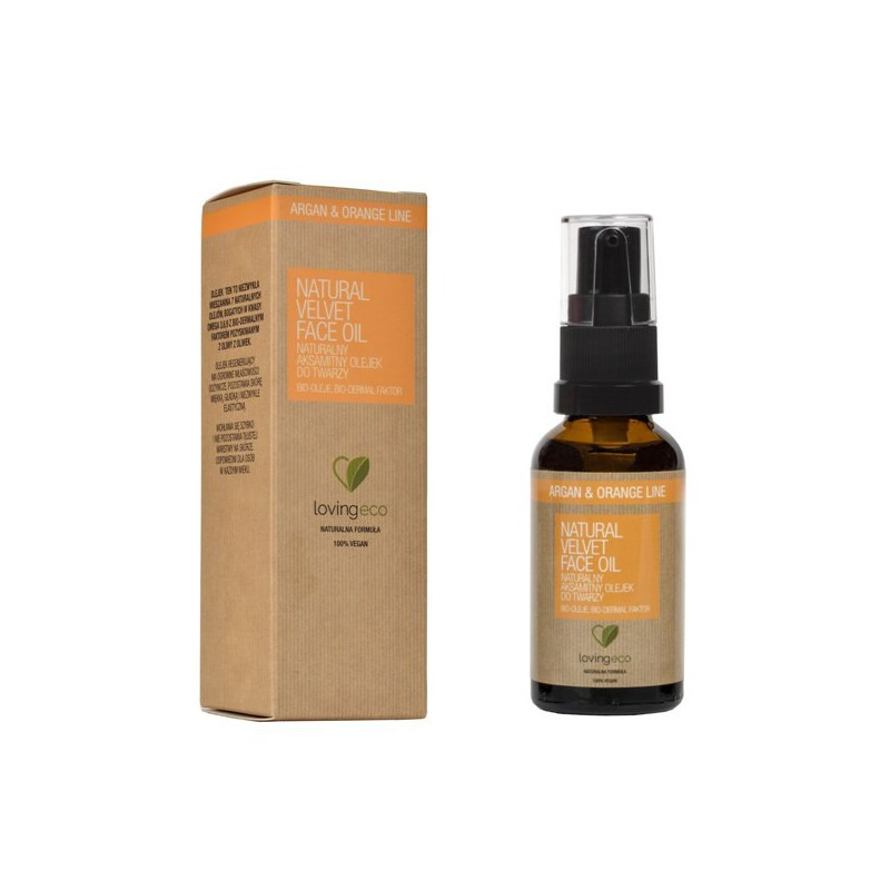 Naturalny aksamitny olejek do twarzy 30 ml